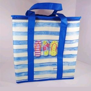 Handbags - NAUTICAL FLIP FLOPS IN PARADISE INSUL BEACH TOTE